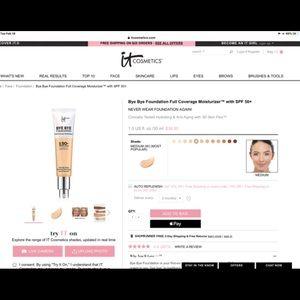 it Cosmetics Bye Bye Foundation in Medium Shade